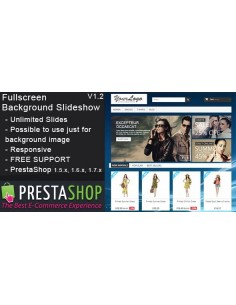 Fullscreen Background Slideshow - PrestaShop Module