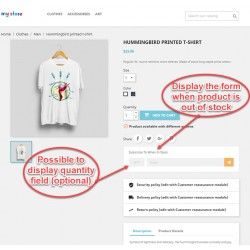 Out of Stock Notification - PrestaShop Module
