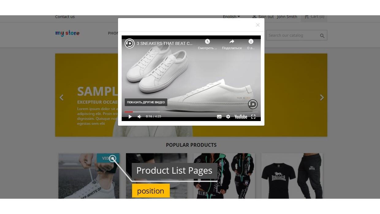 Product Videos - Youtube / Vimeo...