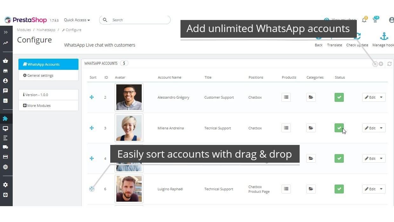 WhatsApp Live Chat Pro Module